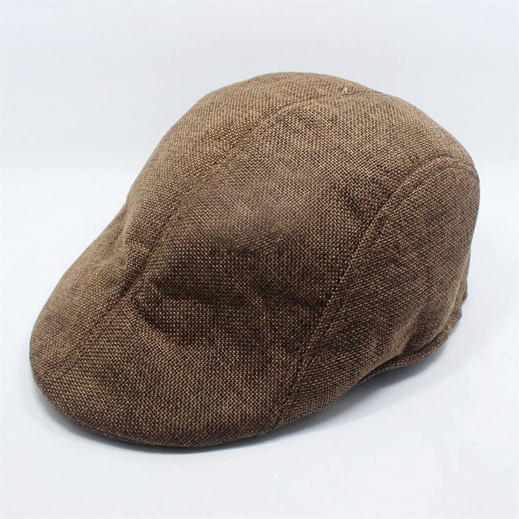 Edtoy Mens Newsboy Hats Cotton Beret Cap Casual Cabbie Flat Cap