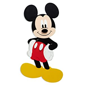 Disney Mickey Mouse - My Pal Shaped Wall Decor, Navy, Red, Yellow, White