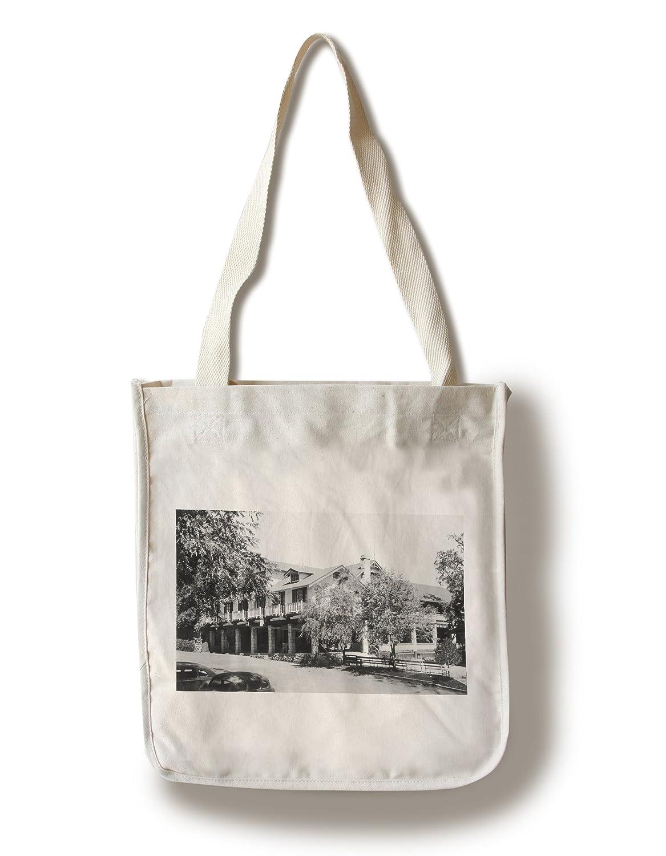 Seiglerスプリング、カリフォルニア – 外部ビューのロッジ Canvas Tote Bag LANT-11612-TT B0182QXVBI  Canvas Tote Bag