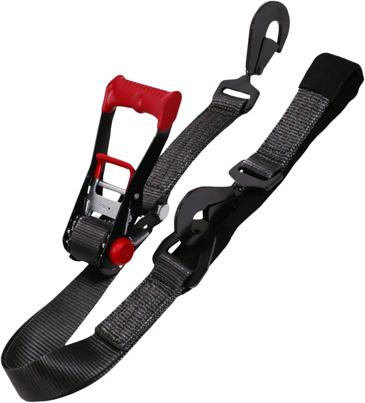 SpeedStrap 27001 Black Ratchet Tie Down Twisted Snap Hook and Axle Strap Combo