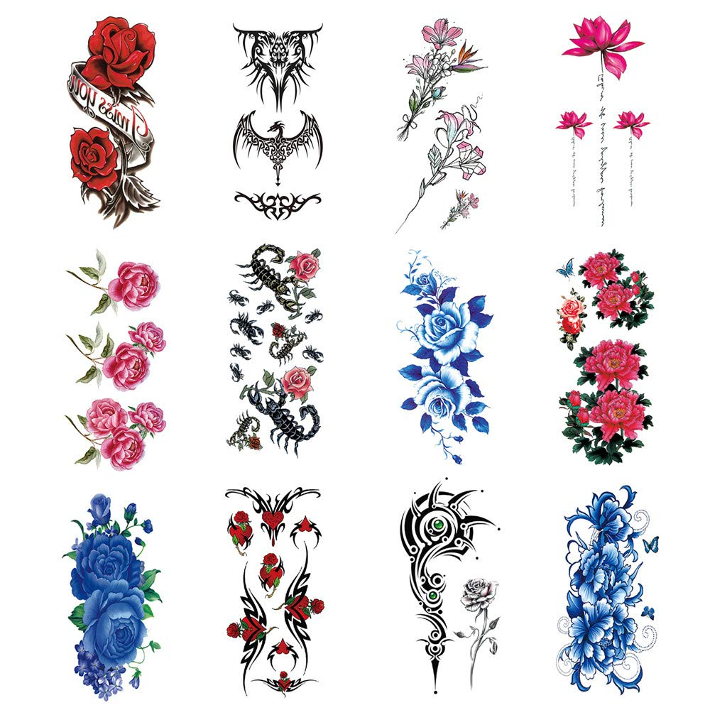 (Fast delivery 6-10 days) Arm temporary tattoo, waterproof temporary tattoo, full arm, half arm tattoo, women's bold tattoo, man, Halloween, party, masquerade ball (LY008) (LY008TL)