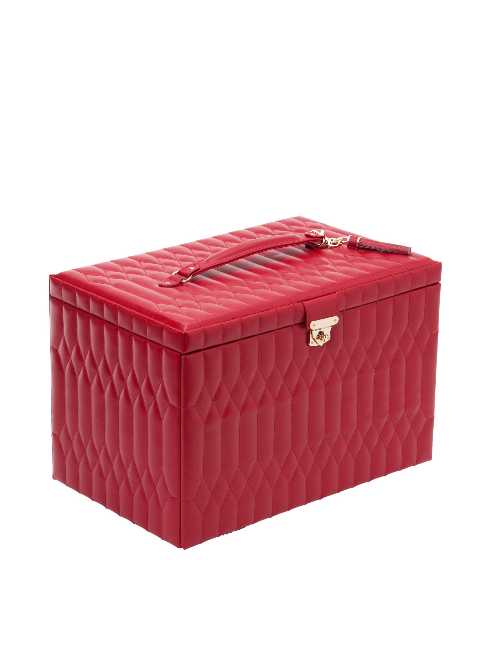 WOLF 329572 Caroline Extra Large Jewelry Case, Red