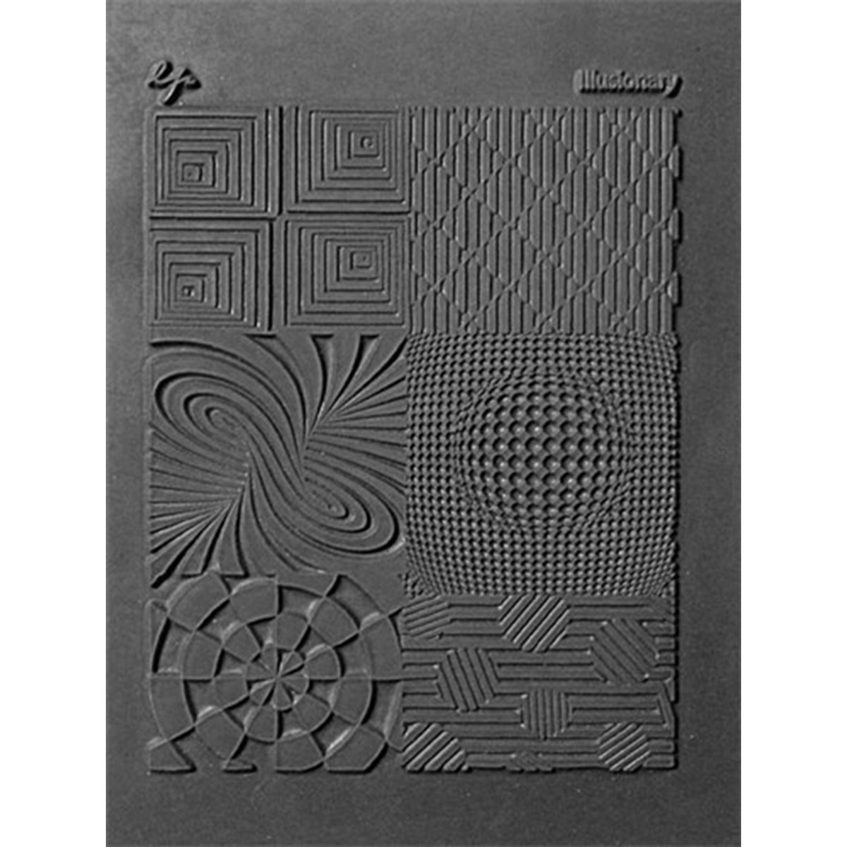 Lisa Pavelka Polymer Clay Art Supplies (Style #187) - Rubber Mold Crafting Texture Stamp - Illusionary 426490