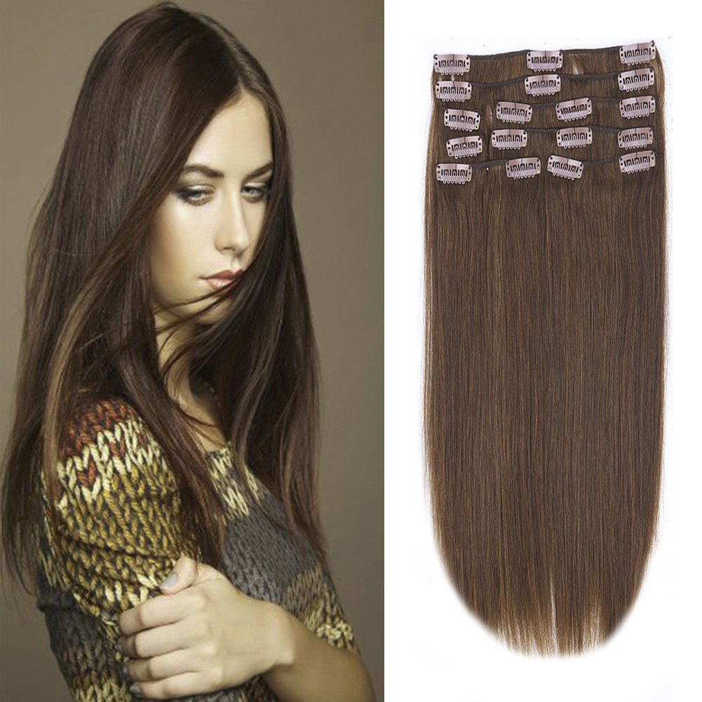 Amazon Clip In 100 Remy Human Hair Extensions 10 24 Grade