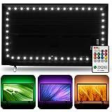 TV LED Backlight USB Powered, Hamlite 6500K White PC Monitor Bias Lighting for 60 65inch TVs,14.8Ft RGBW LED Strip Light…