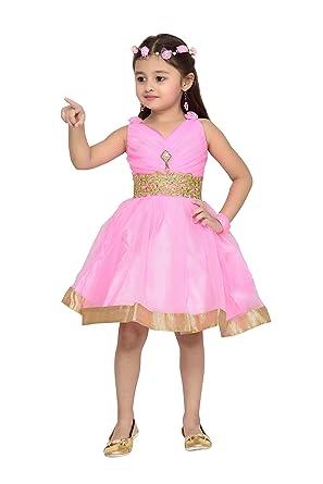 5191e91b1 Aarika Girl s Birthday Christmas Special Premium Net Fabric Frock ...