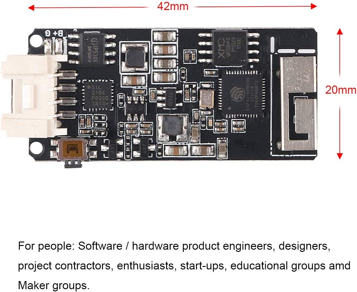IoT apilable para Arduino ESP32 MakerHawk M5stack ESP32 Placa de Desarrollo M/ódulo de Stock Oficial con bater/ía integrada de 700 mAh