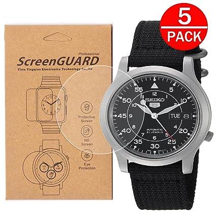 5 Pack Pour Seiko Snk809 Montre Protection D Ecran Une Couverture