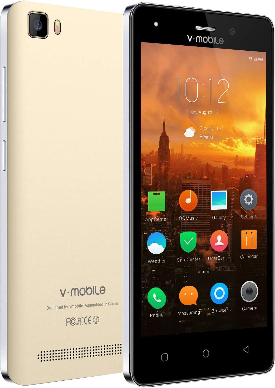 V-Mobile, Movil Libres Baratos 4G ,1GB ram + 8GB rom/32GB, Android 7.0 Pantalla 5.0