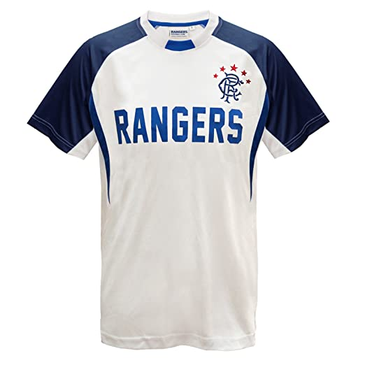 Rangers FC Official Gift Boys Poly Training Kit T-Shirt White 2-3 Years cf009048e