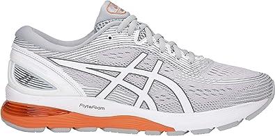 Asics Gel-Nimbus 21 Neutralschuh Herren-Hellgrau, Weiß, Zapatillas de Running Calzado Neutro para Hombre, Mid Grey/White, 50.5 EU: Amazon.es: Zapatos y complementos