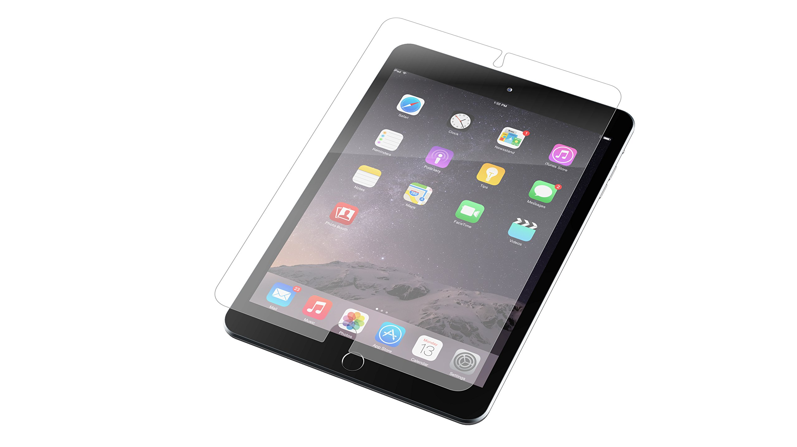ZAGG InvisibleShield HDX Screen Protector - HD Clarity + Extreme Shatter Protection for Apple iPad mini 4 by ZAGG