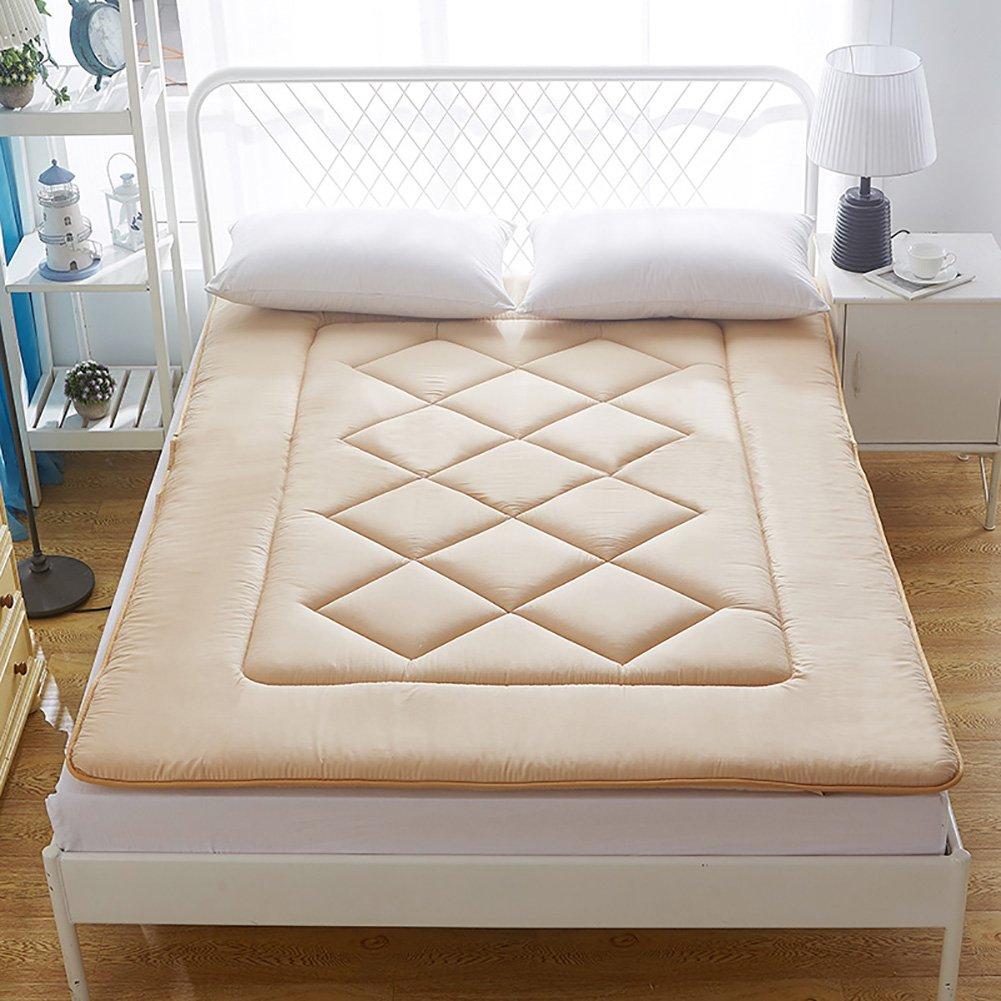 DULPLAY スリップ Thickn Conton マットレス, 式 快適 マットマット 寝室ベッド パッド ベッド カバー マイクロファイバー マットレス パッド プロテクター -B B07J4K3BHT