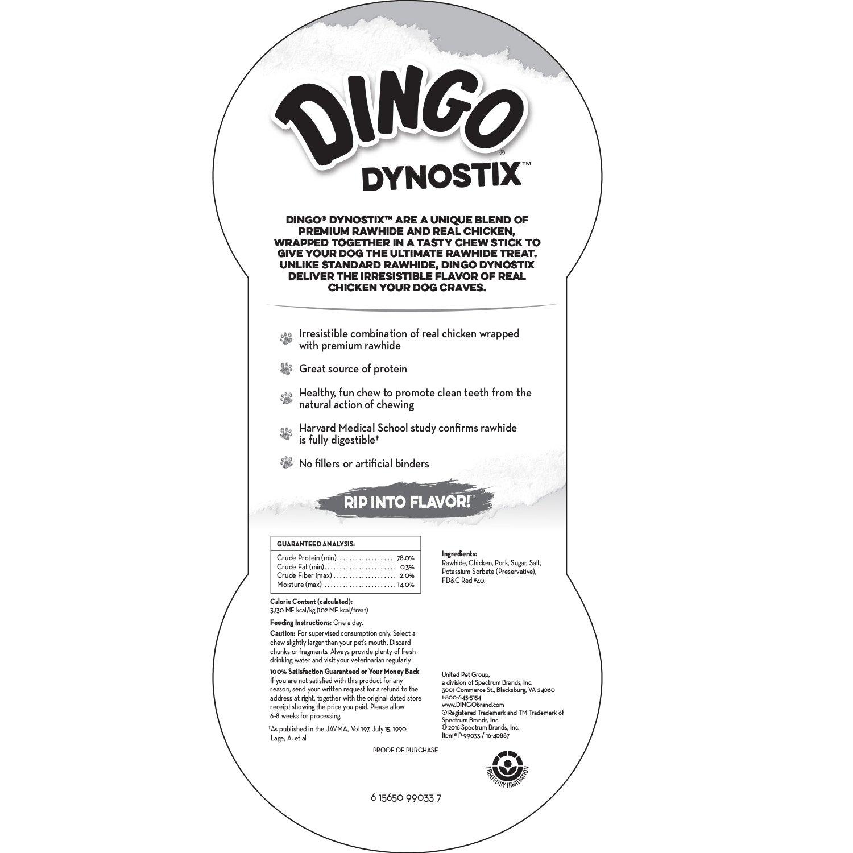 MFR BACKORDER 022217 Dingo Dynostixs 3PACK 5'' (3.2 oz) by Dingo (Image #4)