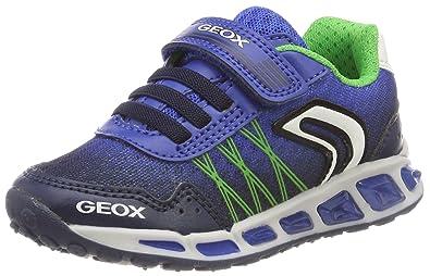 Geox Jungen J Magnetar Boy B Sneaker, Schwarz (Black/Lime), 29 EU