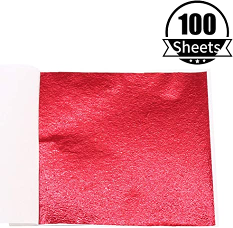 Handcrafts Nails 100 Sheets 5.1 by 5.3 Inches Picture Frames Furniture Paintings KINNO Imitation Gold Foil Sheets Wall Blue Leaf Paper Multipurpose for Arts Decoration Gilding Sculpture