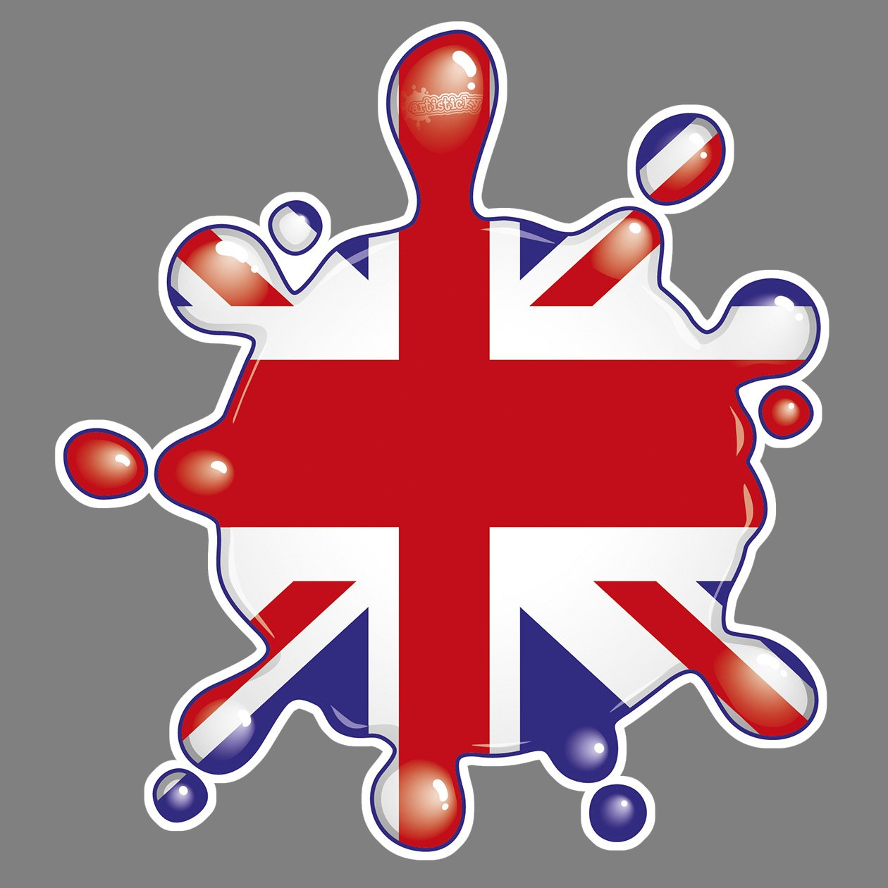 Parking Permit Holder Skin UK GB SPLAT RED WHITE BLUE FREE POSTAGE