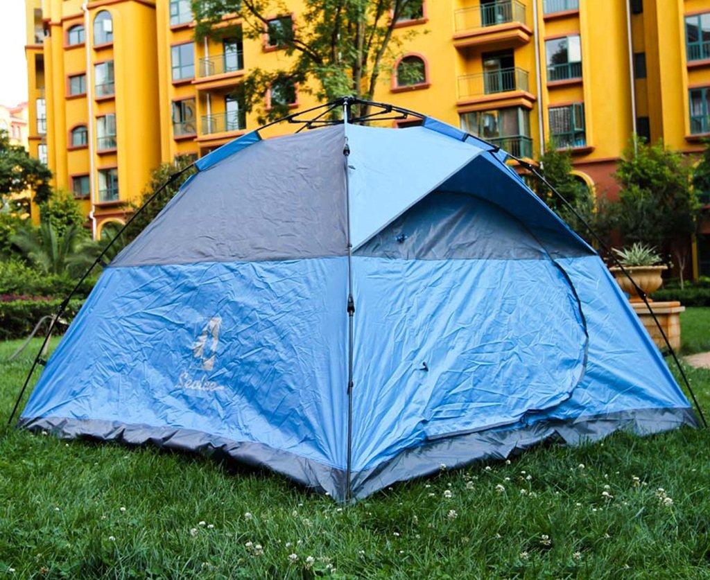 Ocio al aire libre impermeable 3-4 personas Picnic camping totalmente automática tienda (Color : Rojo) : Amazon.es: Deportes y aire libre