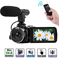 Camcorder Full HD 1080P Digital Camera WIFI IR Night Vision Function Vlogging Camera Video Camera