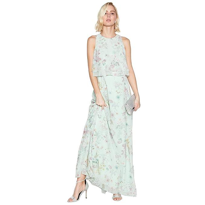 36bc60bde3a7 Debut Womens Pale Green Floral Print 'Darcy' Chiffon Maxi Dress ...