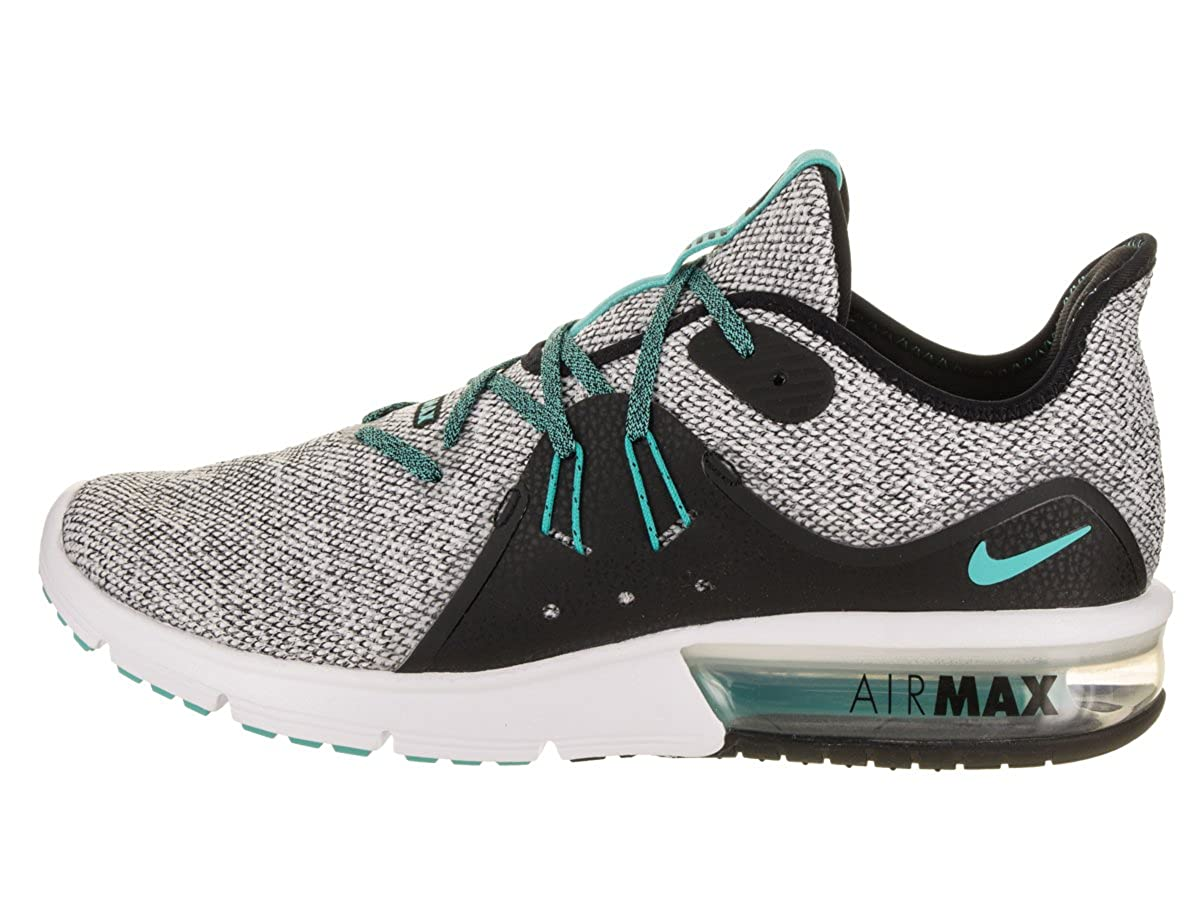 quality design 3b196 53dc1 Nike Mens Air Max Sequent 3   White-Hyper Jade  Buy Online at Low Prices in  India - Amazon.in