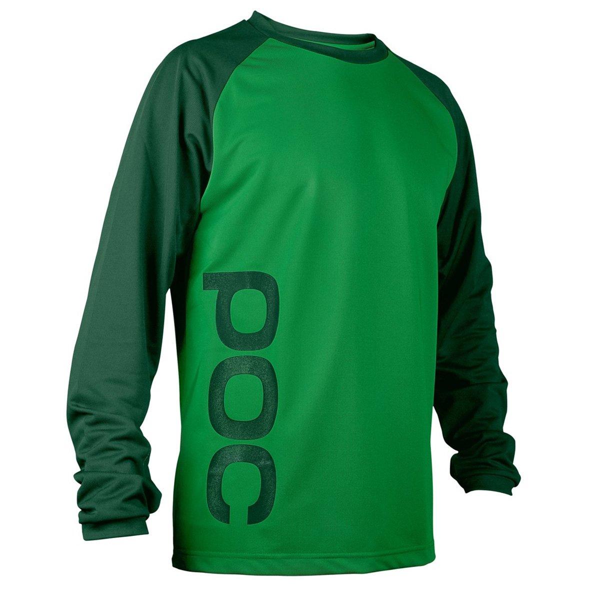 POC Flow Maillot di bicicletta da montagna Uomo Molybdenite Green/Fosfato, Unisex adulto, Verde (Molybnetine green/Phosphate green), XS Flow Jersey