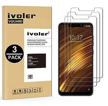 iVoler [3 Unidades] Protector de Pantalla para Xiaomi Pocophone F1, Cristal Vidrio Templado Premium: Amazon.es: Electrónica