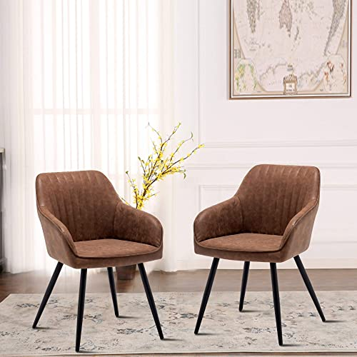 ANNJOE Faux Leather Accent Chair Arm Chairs Living Room Chairs Leisures Chair Upholstered Chair