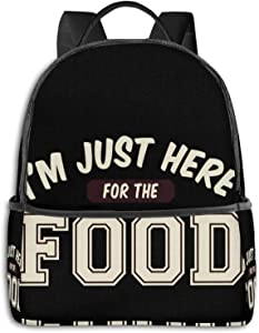 I'M Just Here For The Food Pullover Hoodie Student School Bag School Cycling Leisure Travel Camping Outdoor Backpack