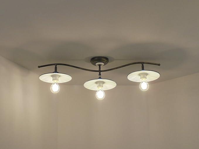 Plafoniere Per Rustico : Plafoniera lampadario classico rustico amazon illuminazione