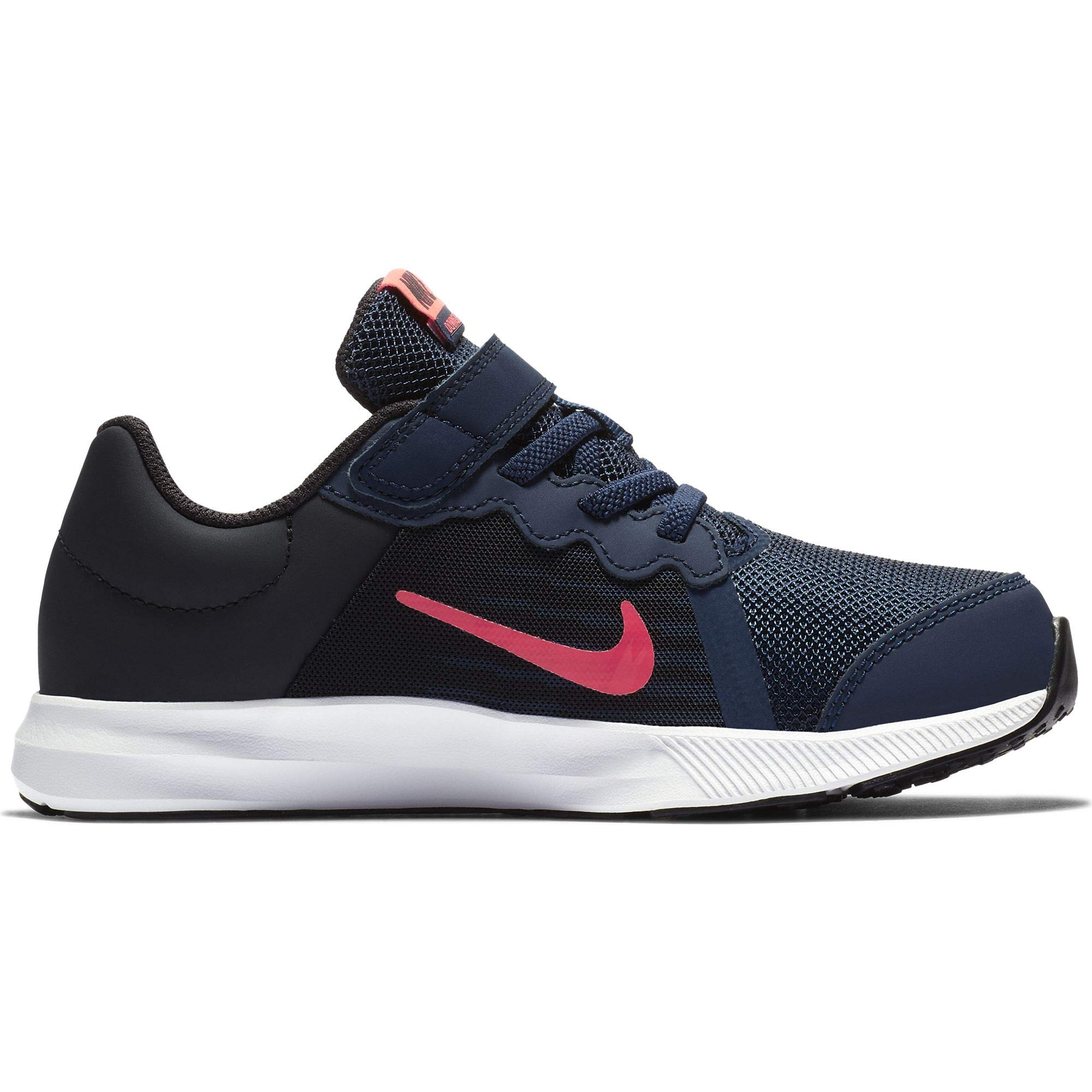 Nike Girl's Downshifter 8 (PS) Pre School Shoe Midnight Navy/Flash Crimson/Oil Grey Size 1 M US