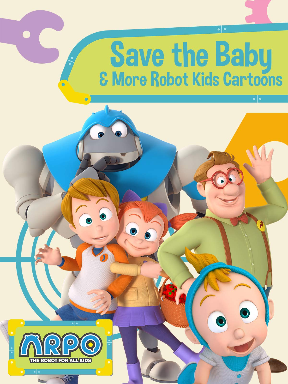 Arpo the Robot for All Kids - Save the Baby & More Robot Kids Cartoon