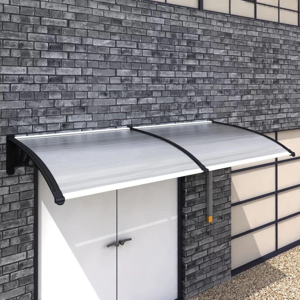 Zora Walter Supporto Nero e Pannelli Trasparenti T per 1 tettoia da Giardino e Balcone Tende da Sole 300¡Á100 cm