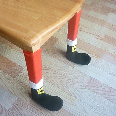 Amazon.com: 4pcs fundas para respaldo de silla de Navidad ...