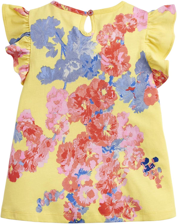 Yellow Floral Joules Kaela Jersey Printed T-Shirt