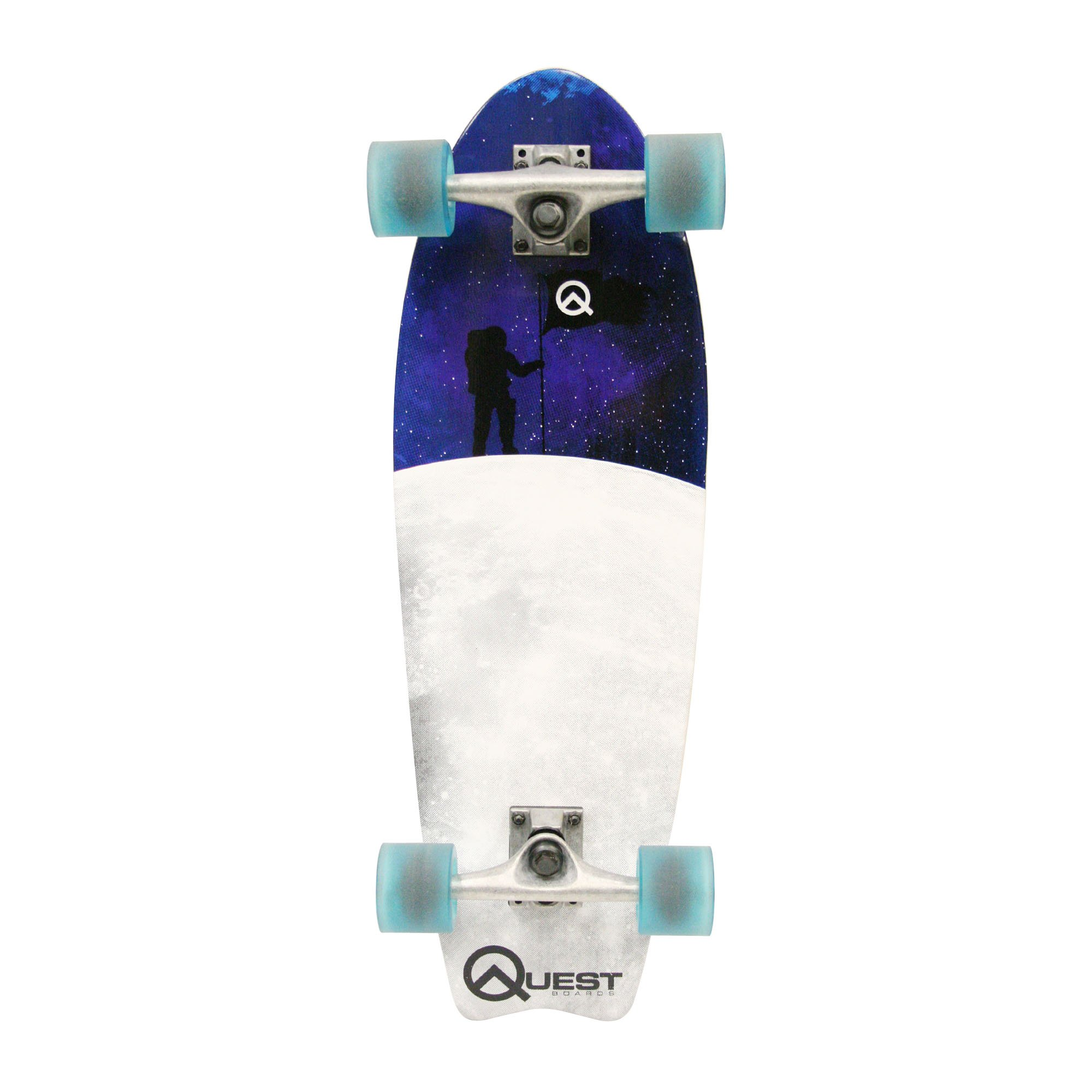 Quest Fishtail Cruiser Board Skateboard (27-Inch)