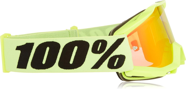 Jaune 100/% Accuri Youth-Fluo Yellow-Ecran Miroir Rouge Masque de VTT Mixte Enfant Taille