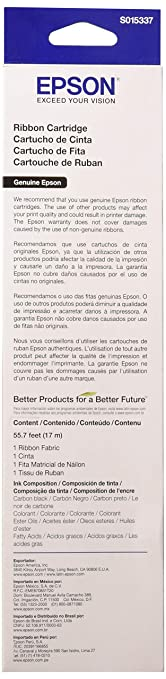 EPSS015337 - Epson Black Ribbon Cartridge
