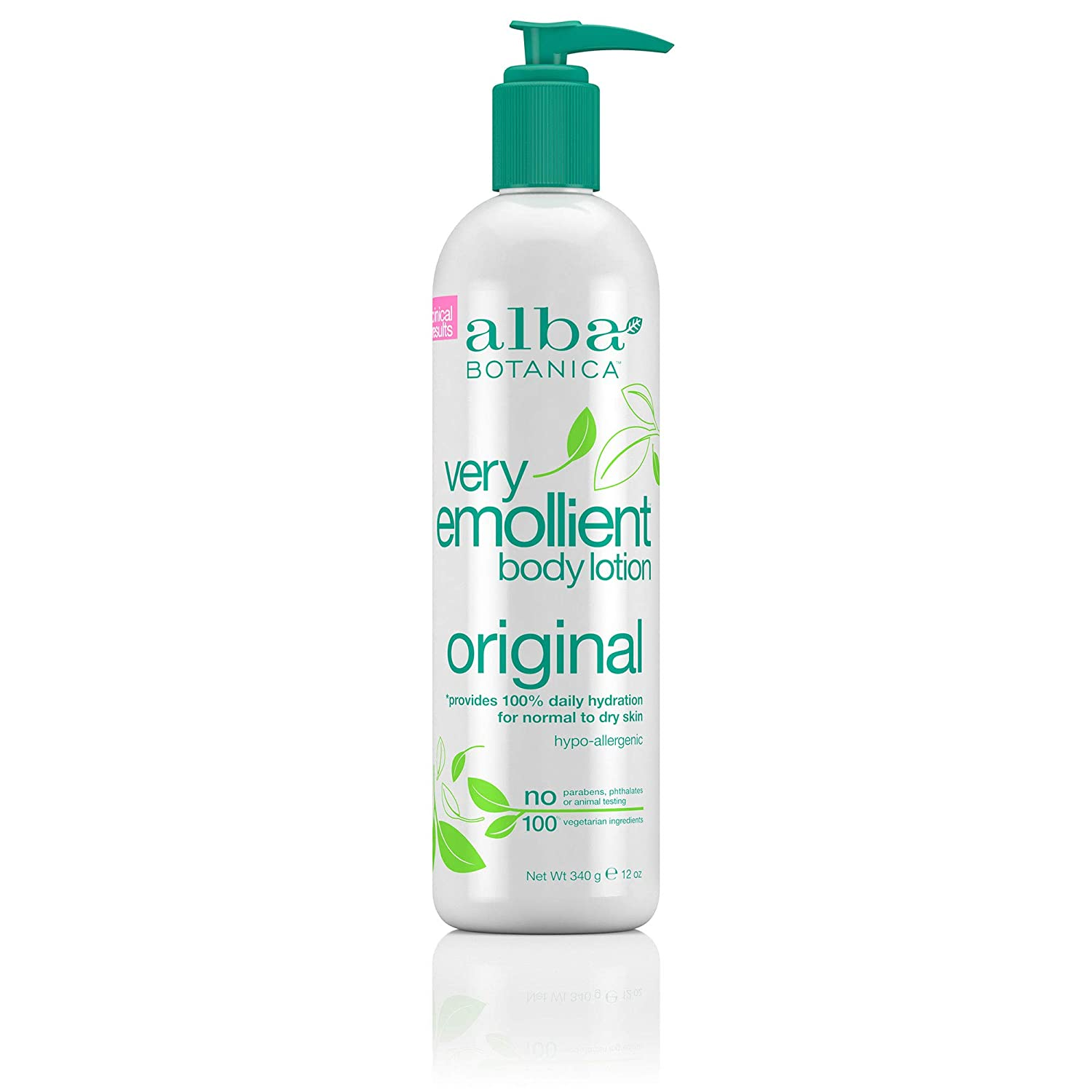 Alba Botanica Very Emollient Original Body Lotion, 12 oz.