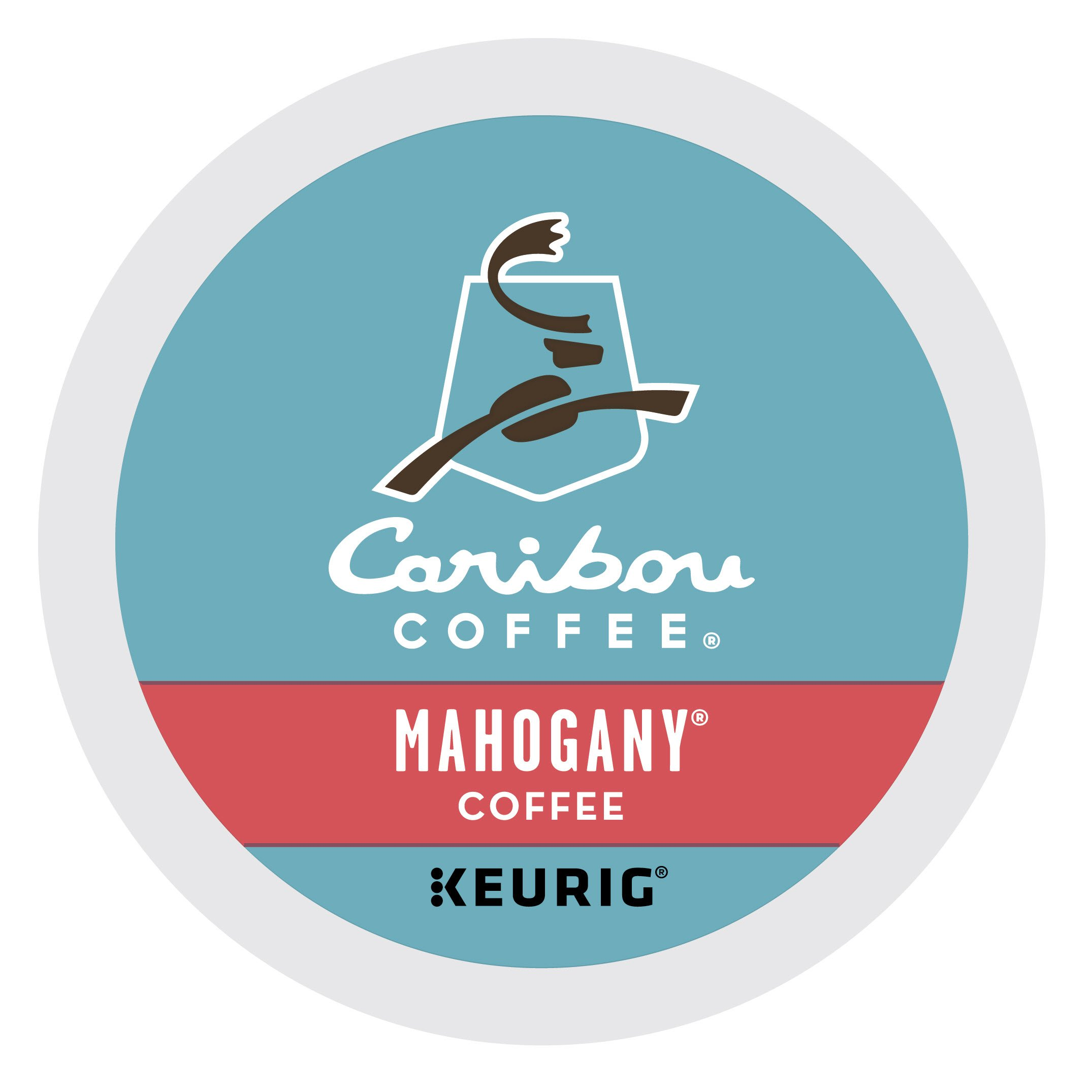 Caribou Coffee Mahogany, K-Cups for Keurig Brewers, 96-Count, 9.6 oz by Caribou Coffee