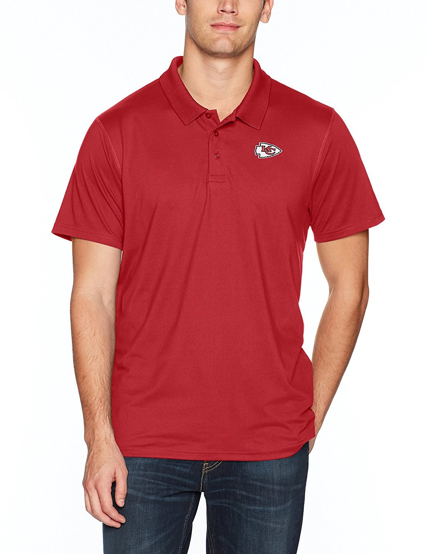 Galleon - NFL Kansas City Chiefs Men s OTS Sueded Short Sleeve Polo Shirt c5861057f