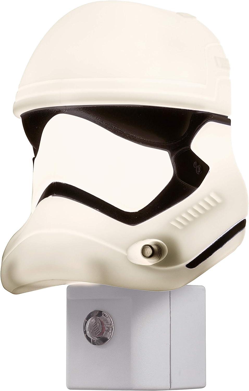 Star Wars Mini Stormtrooper LED Night Light, Collector's Edition, Plug-in, Dusk-to-Dawn Sensor, Disney, Ideal for Bedroom, Bathroom, Nursery, 44608