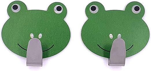 Kleiner Frosch Tierhaken selbstklebend Kinder Wandhaken Handtuchhaken Schl/üsselhaken Klebehaken Garderobenhaken Handtuchhalter ohne Bohren
