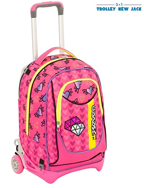 Trolley New Zaino Rosa Seven 2018 Scuola Fucsia Girl Jack Shifty ftrqfdw