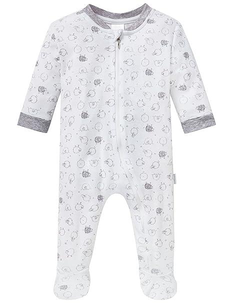 Schiesser Baby Anzug mit Fuss, Pelele para Dormir Unisex bebé, Blanco (Weiss), 86 cm: Amazon.es: Ropa y accesorios