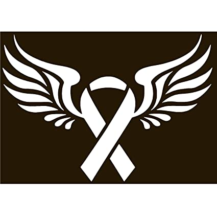 Amazoncom Ttnt Breast Cancer Ribbon Wings Wingsvinyl Sticker Decal