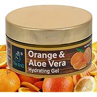 The EnQ Orange & Aloevera Hydrating Facial Gel- Paraben Free and Sulphate Free- Moisturizer, Anti-acne Night Gel