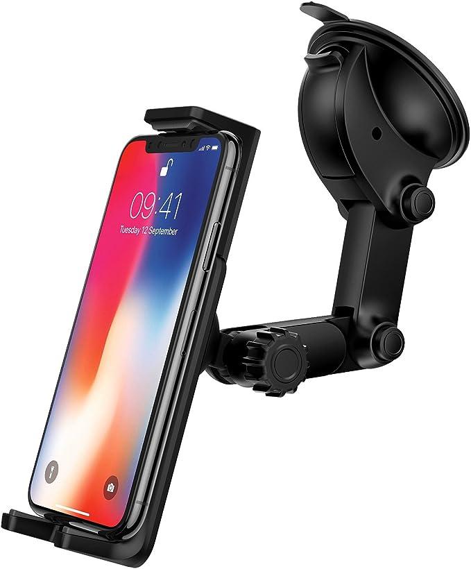 Ringke Gear Soporte de coche para [negro] con agarre lavable ventosa, salpicadero de coche soporte para teléfono Smartphone Premium Universal para iPhone, Android, Samsung Galaxy, LG, dispositivos GPS, Google coche accesorios: Amazon.es: