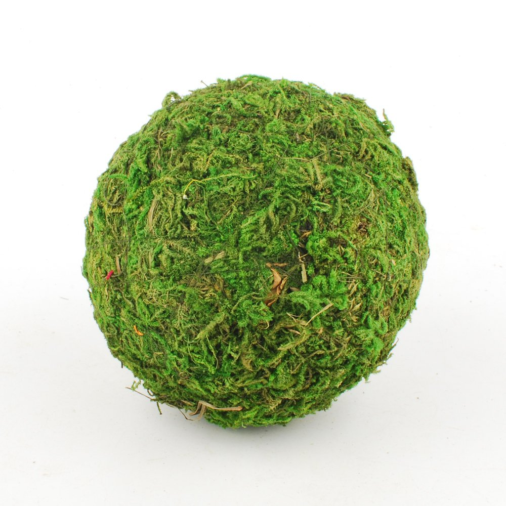 NWFashion 2'/2.8'/3.5' Green Moss Ball Decorative Ball for Kitchen/Garden/Shop (6PCS 2.8')