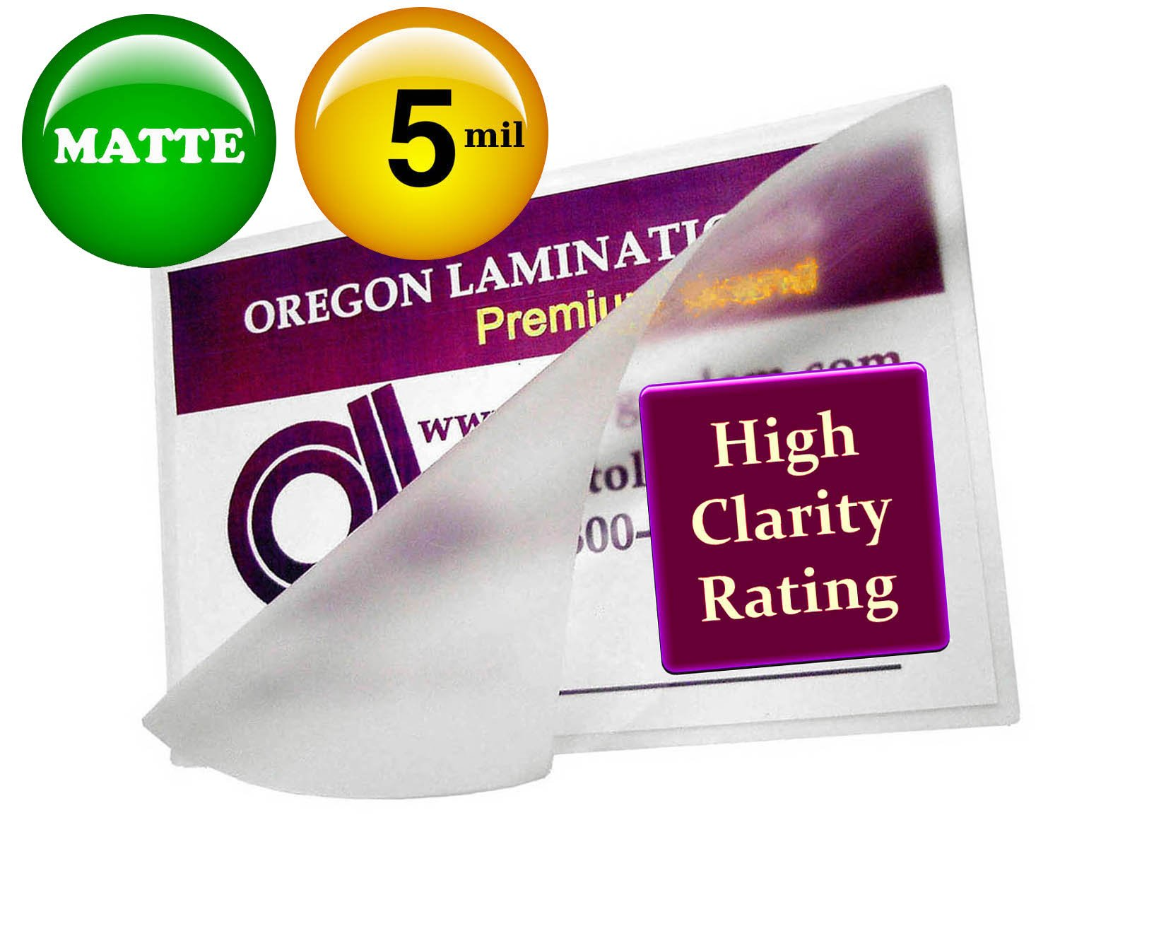 Matte Double Letter Laminating Pouches 5 Mil 11-1/2 x 17-1/2 (Pack of 200) Small Menu by Oregon Lamination Premium